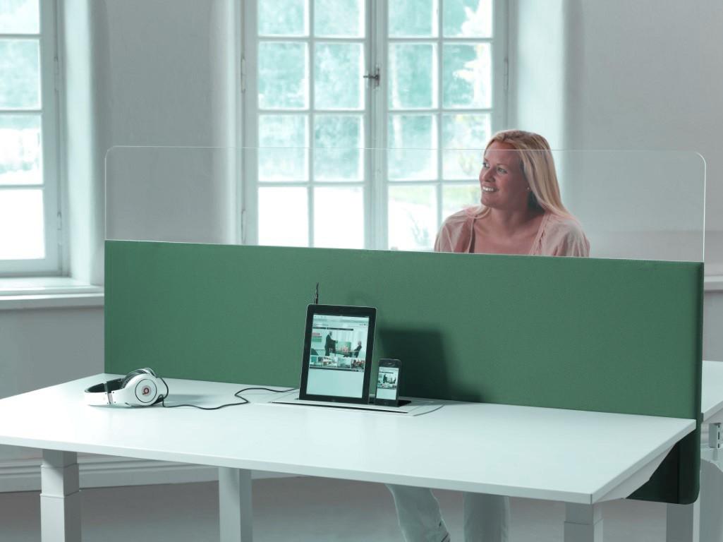 Cloison de bureau acoustique et plexiglas