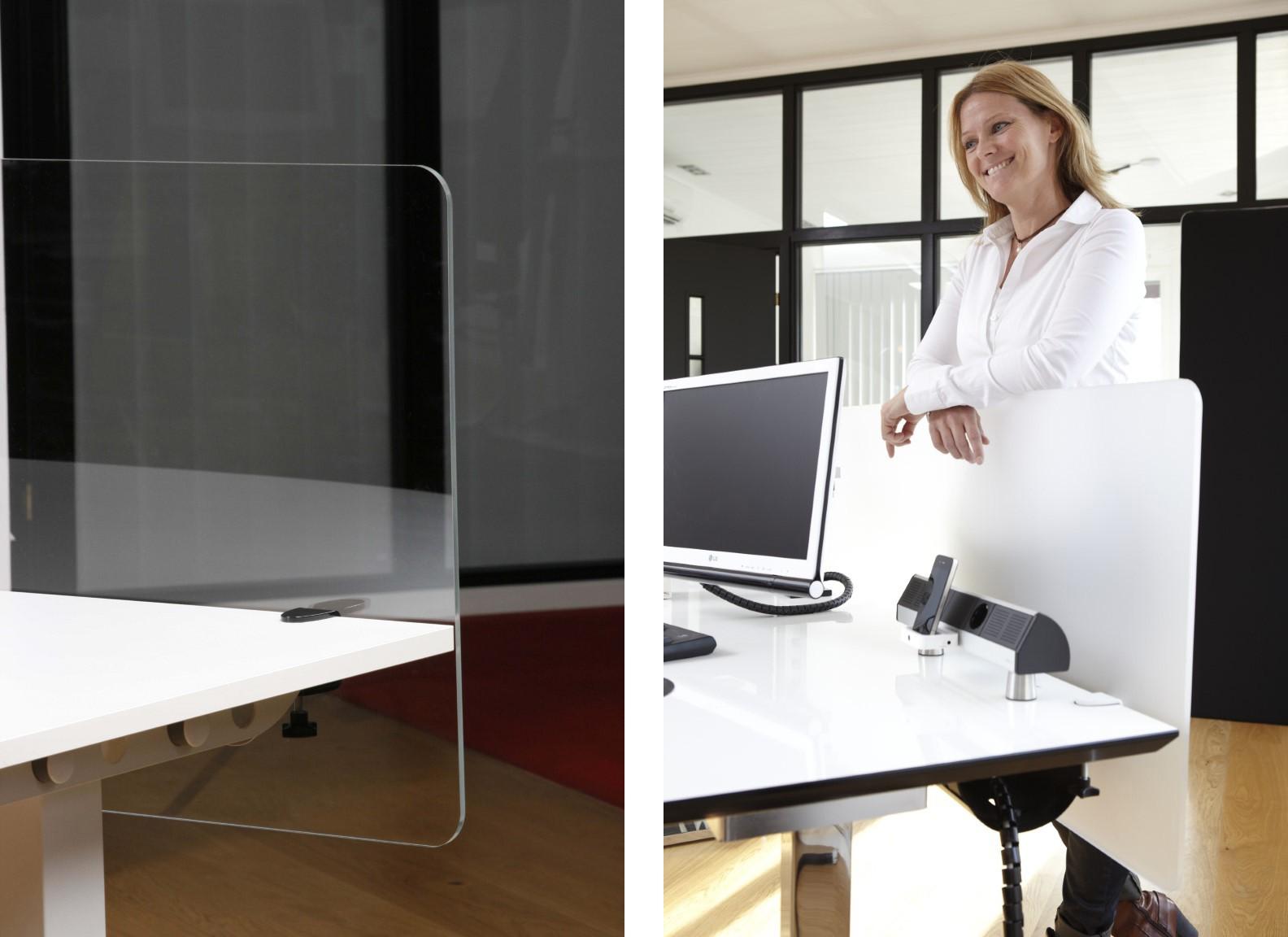 Ecran de séparation de bureau en plexiglas
