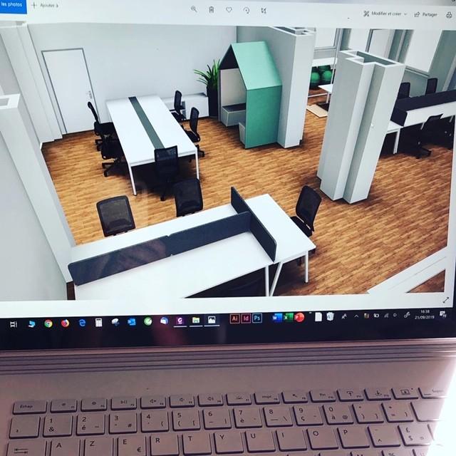 Conception des plans 3D de l'aménagement
